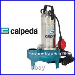 Submersible Vortex Pump GQSM Dirty Water CALPEDA GQS50-9m 0,75kW 1Hp 230V
