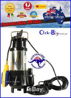 Submersible Vortex Sump Pump Premium Dirty / Grey Water, Sewerage Water Pump