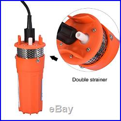 Submersible Water Pump, 12V 1/2 inch Solar Powered Pump Deep Well Alternative