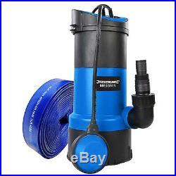 Submersible Water Pump 750w + 5m Hose Powerful Fast 13000 ltr/hr Silverline
