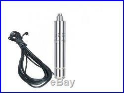 Submersible Water Pump For Deep Well Or Borehole 120m 1.1kw, 1.5m³/hour + 15m Ca