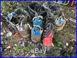 Submersible Water Pumps, 2inch, Spares Or Repairs Job Lot