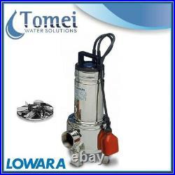 Submersible sewage dirty waste water pump DOMO10VX 0,75kW Vortex Float Lowara