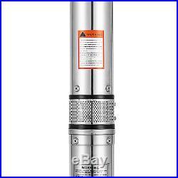 Submersible water pump 800W Ø102mm underground deep well pump sump