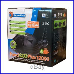 Superfish Pond Eco Plus 12000 Submersible Filter Pump Solids Dry Mount Water