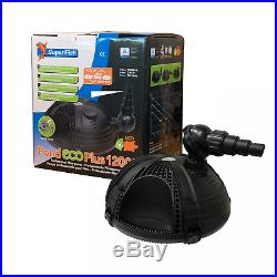 Superfish Pond Eco Plus Filter Pumps 12k 20k Lph Fish Water Courses Submersible