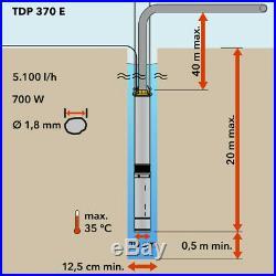TROTEC Deep Well Pump TDP 370 E Water pump Garden pump Submersible pump