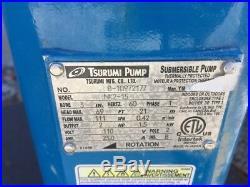 TSURUMI NK2-15, 110VAC, 3 Discharge, 2HP, Submersible Water Pump