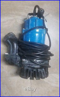 Tsurumi HS3.75S Submersible Sump Pump Trash Water 1 HP 3 in Small Portable Well