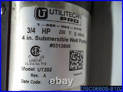 Utilitech 4 Submersible 3/4 HP 230-Volts Stainless Steel Water Well Pump UT202