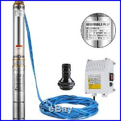 VEVOR 44SDM4-10 Borehole Deep Well Submersible Water Pump LONG LIVE + CABLE