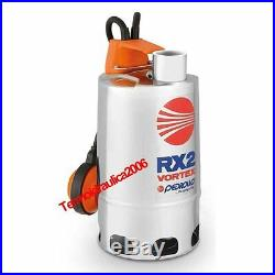 VORTEX Submersible Pump Dirty Water RXm2/20 0,5Hp 230V 50Hz Cable5M RX Pedrollo