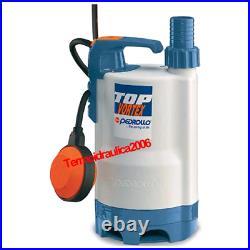VORTEX Submersible Pump Dirty Water TOP3VORTEX 5M 0,75Hp 240V Pedrollo