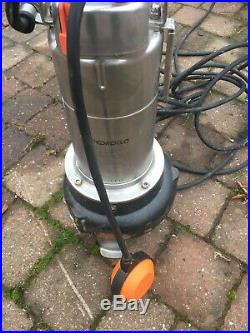 VORTEX Submersible Pump Sewage Water VXm8/50N 0,75Hp 110V vx Pedrollo Cable5m Z5
