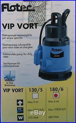 Vip Vort 180/6-Auto Submersible Clean/Dirty Water Pump Garden/Pond/Flood/Well