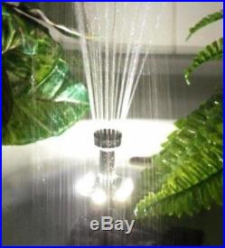 Water Feature Fountain Submersible Pump Solar Panel Powered Garden Pond 1550LPH