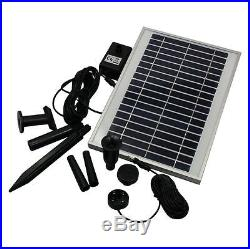 Water Feature Fountain Submersible Pump Solar Panel Powered Garden Pond 400 LPH