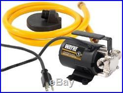 Wayne Electric Non Submersible Portable Water Transfer Utility Pump 1/10 HP