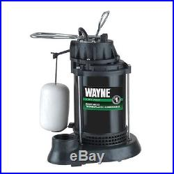 Wayne SPF50 Submersible Thermoplastic 1/2 HP Water Sump Pump & Switch