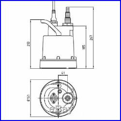 Young Simer 5 Dirty Water Pump Flachsaugend OD6601G-05 Submersible